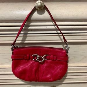 Coach Red Leather Mini Purse/Wristlet
